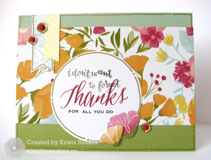 Happy Time Thank You Card by Krista Ritskes #simplycreating