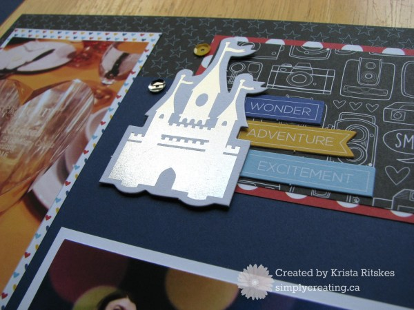 Magical Convention layout close up castle by Krista Ritskes #simplycreating