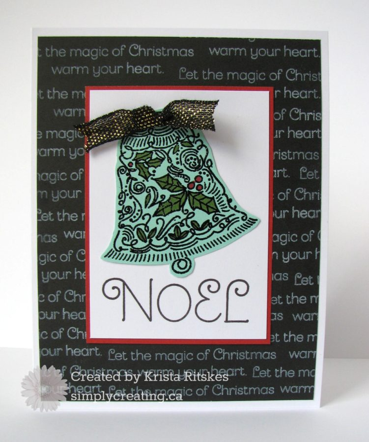 Christmas card by Krista Ritskes #simplycreating