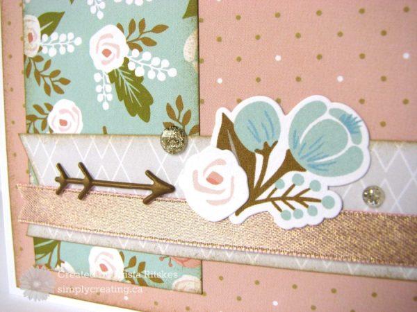 Bonne Fete card close up by Krista Ritskes #simplycreatingcrafts