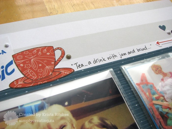 Sound of Music layout detail by Krista Ritskes #simplycreatingcrafts