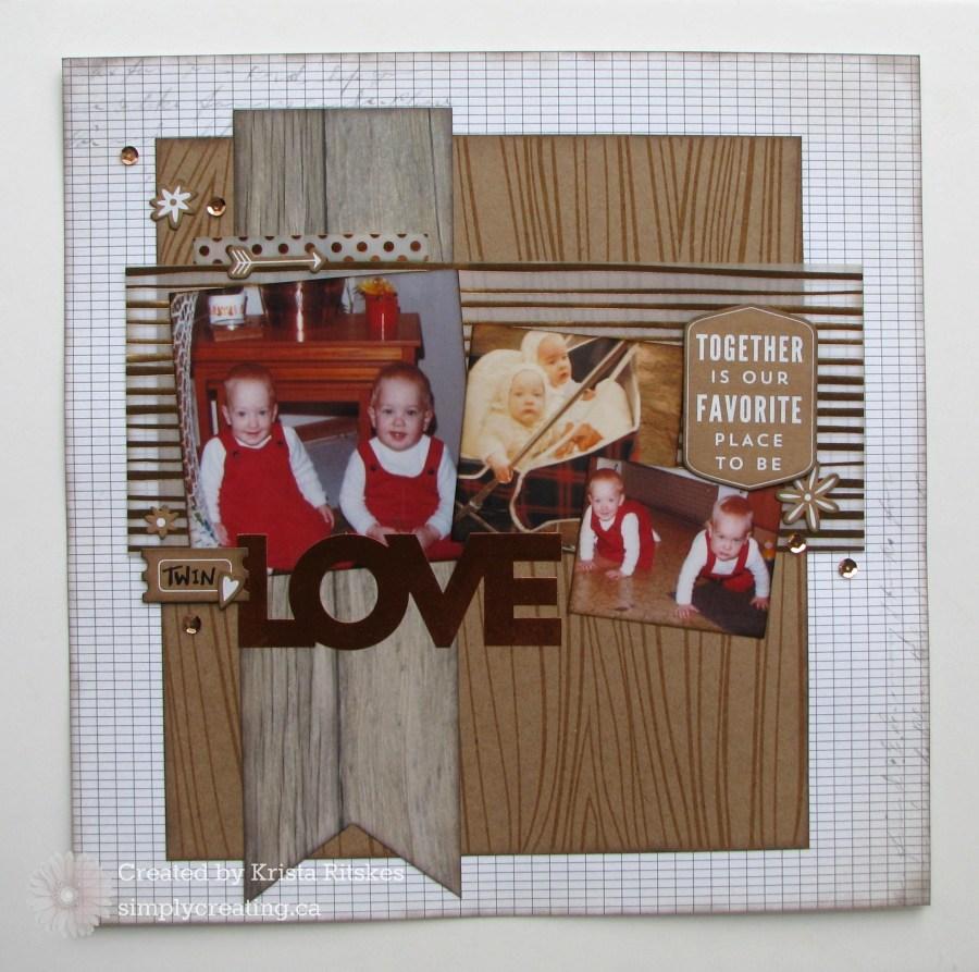Twin Love layout by Krista Ritskes #simplycreating