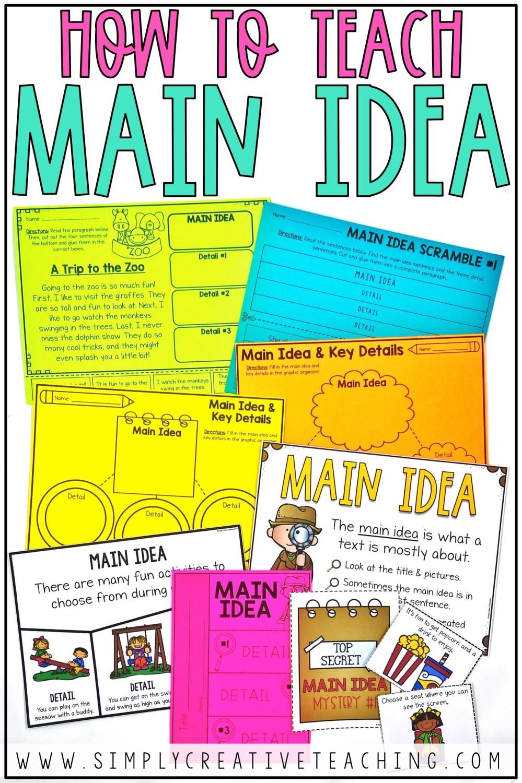 medium resolution of Main Idea and Details Activities - Simply Creative Teaching