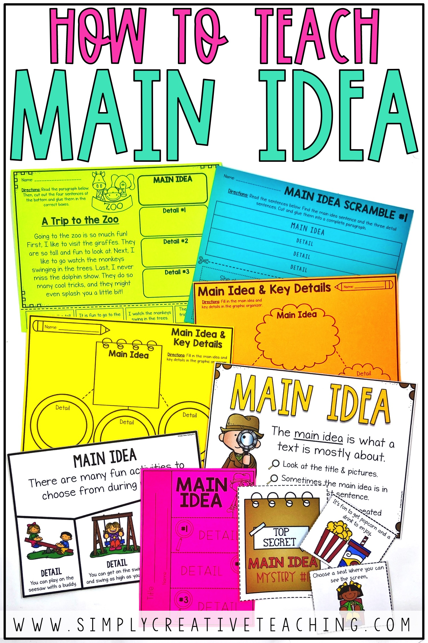 hight resolution of Main Idea and Details Activities - Simply Creative Teaching