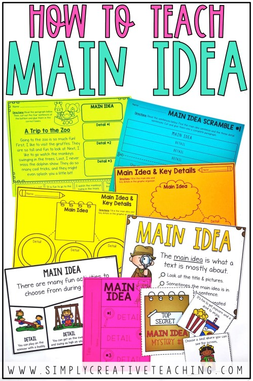 small resolution of Main Idea and Details Activities - Simply Creative Teaching