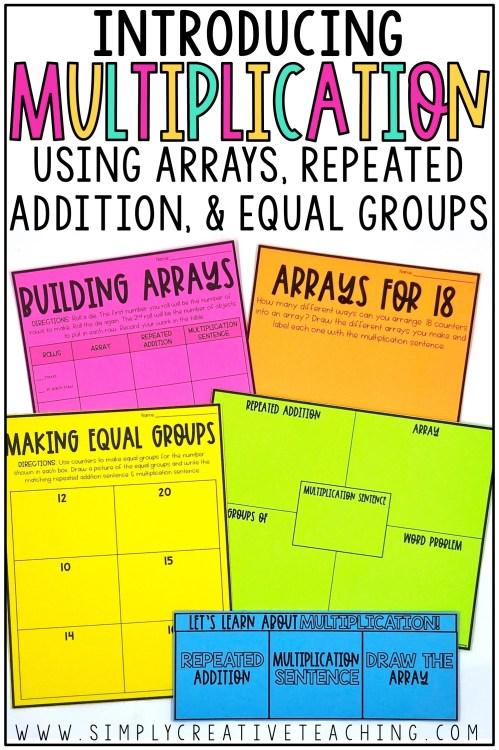 small resolution of Introducing Multiplication Activities \u0026 Ideas - Simply Creative Teaching