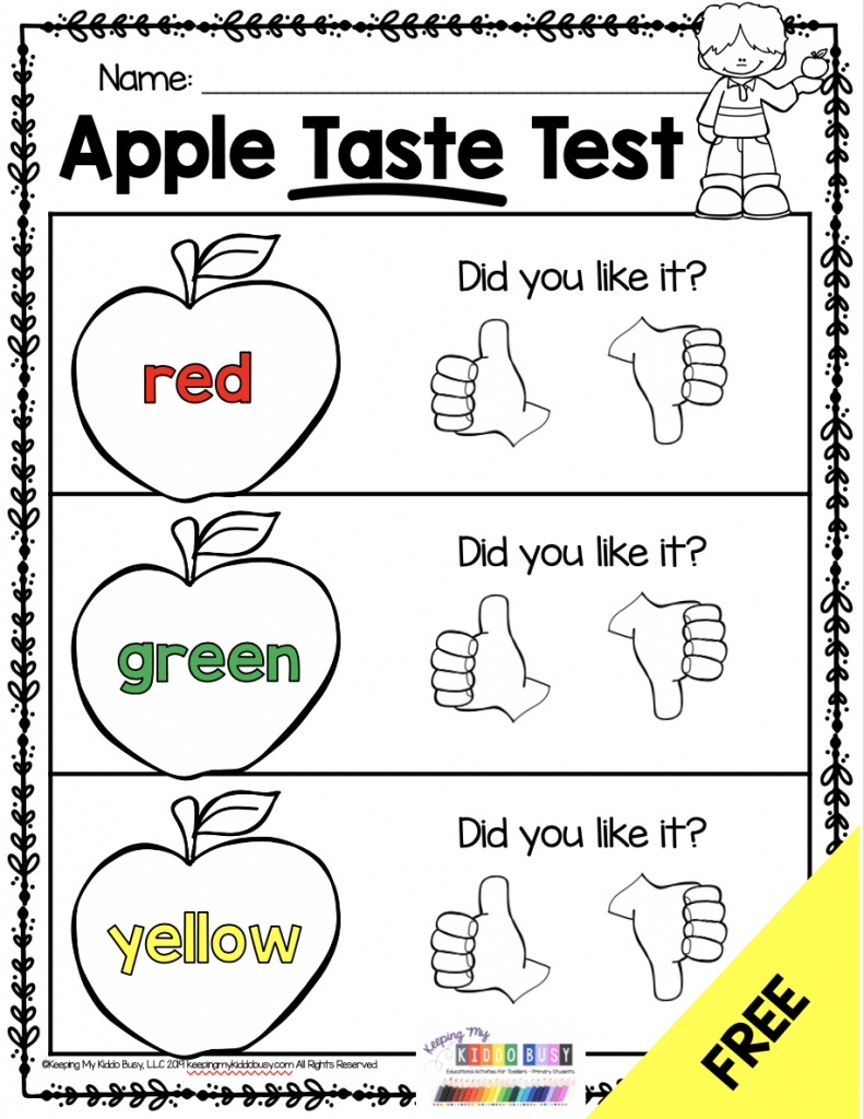 medium resolution of Free Apple Activities for K-2 Classrooms - Simply Creative Teaching
