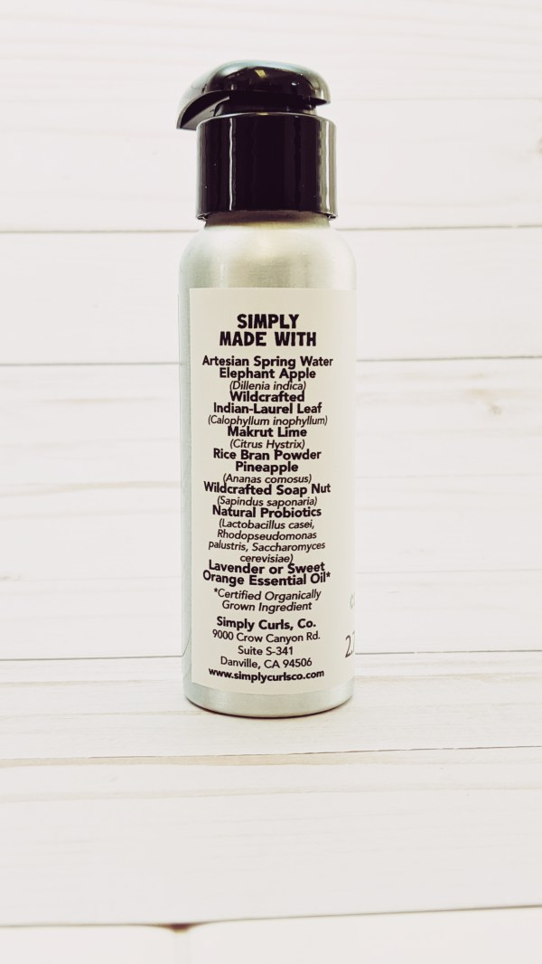 Ingredients in wildcrafted Simply Clean Conditioner.