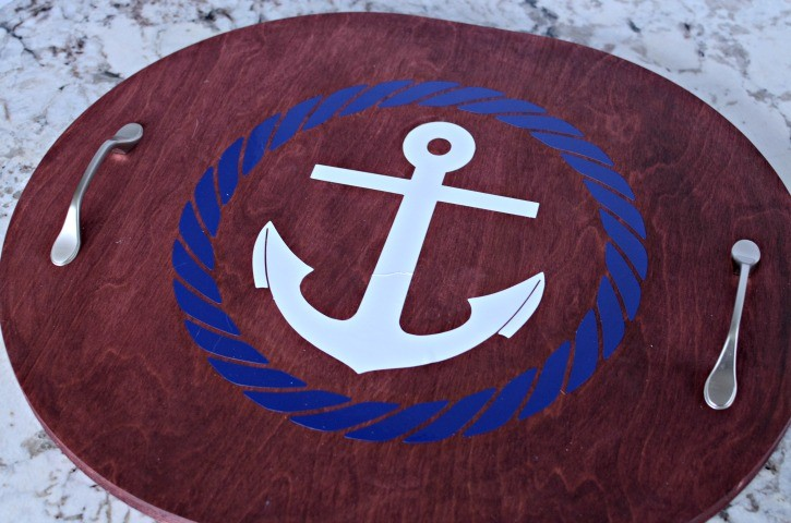 Upcycled Nautical Anchor Serving Tray Simply Darrling