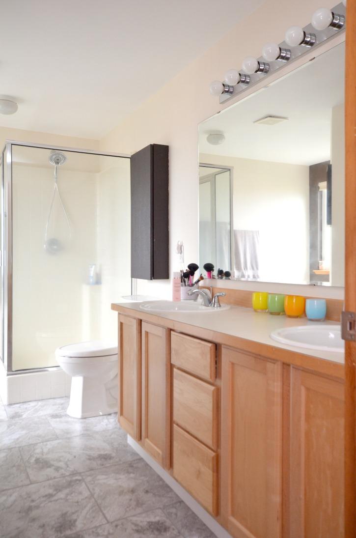 Easy Update to Bathroom Floors  Simply Darrling