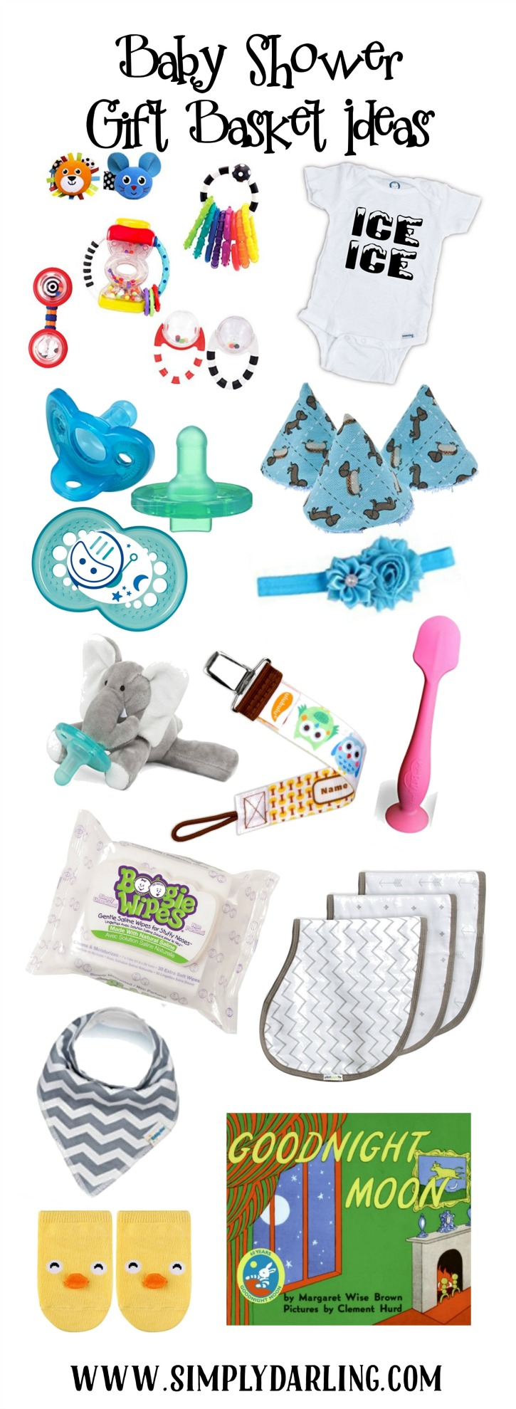 What To Put In A Baby Shower Gift Basket : shower, basket, Shower, Basket, Ideas, Simply, {Darr}ling