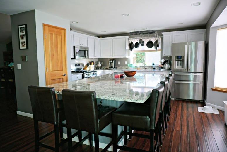 updated kitchens kitchen cabinet ikea white with large center island simply ling cabinets granite and