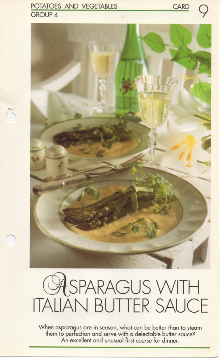 4-9 Asparagus with Italian Butter Sauce
