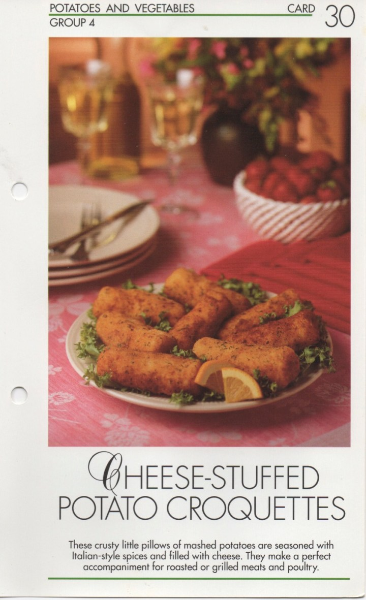 4-30 Cheese-Stuffed Potato Croquettes