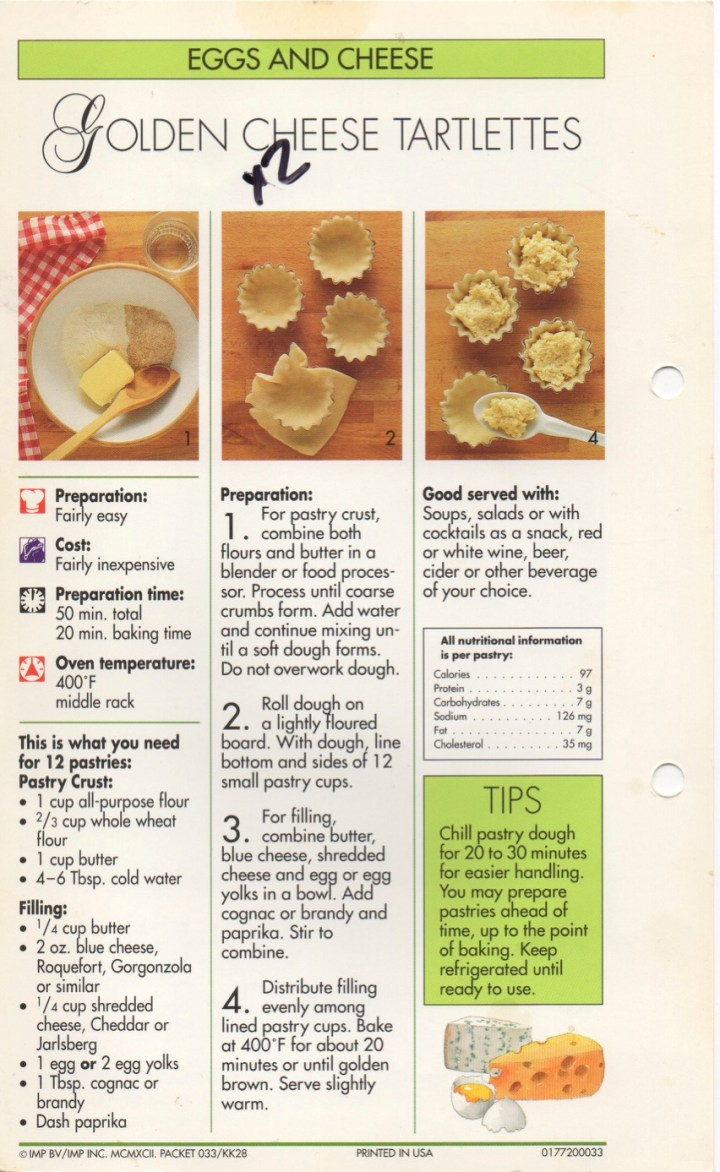 5-20 Golden Cheese Tartlettes1