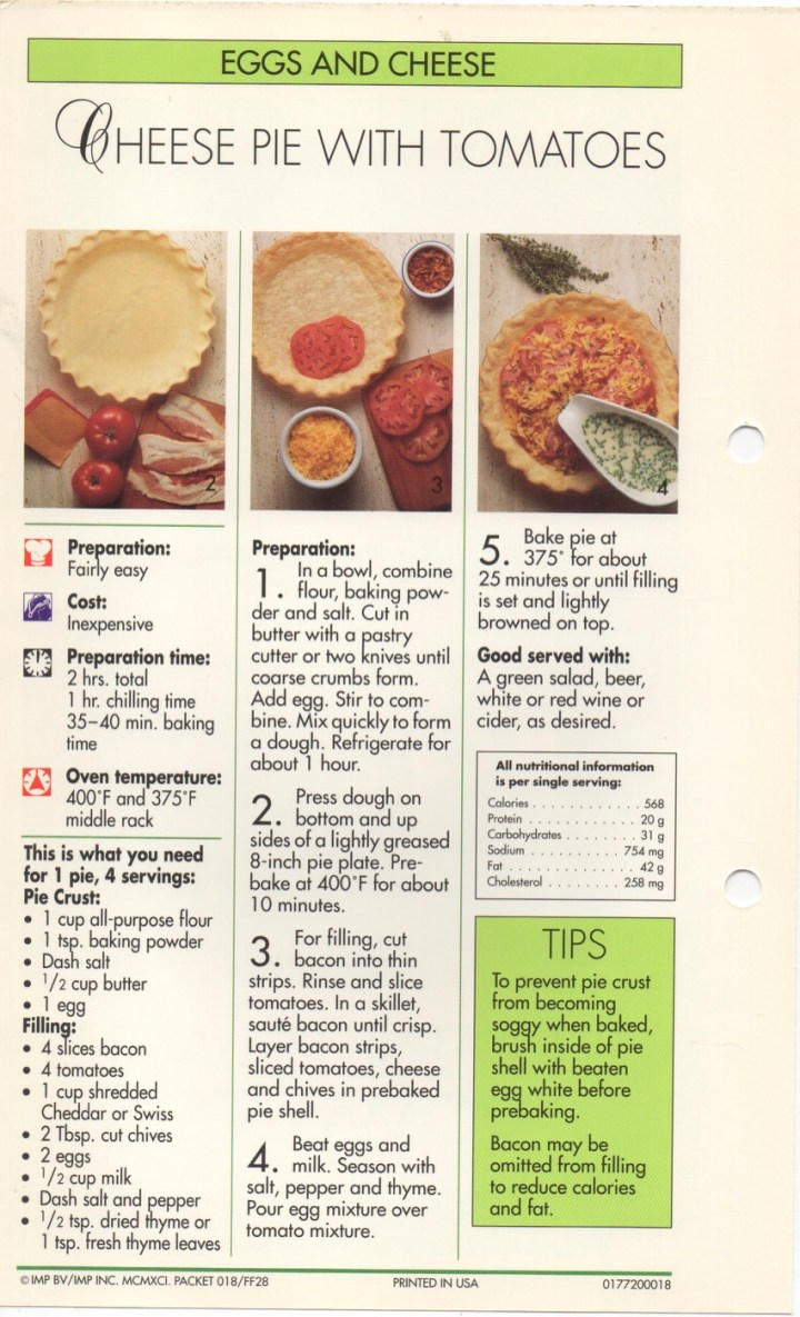 5-23 Cheese Pie with Tomatoes1