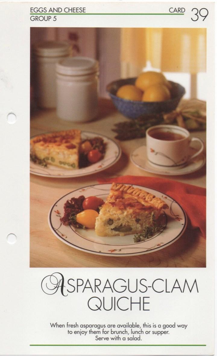 5-39 Asparagus-Clam Quiche