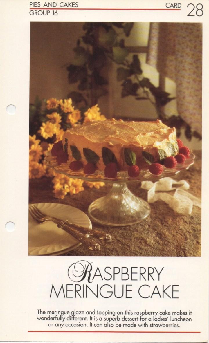 16-28 Raspberry Meringue Cake