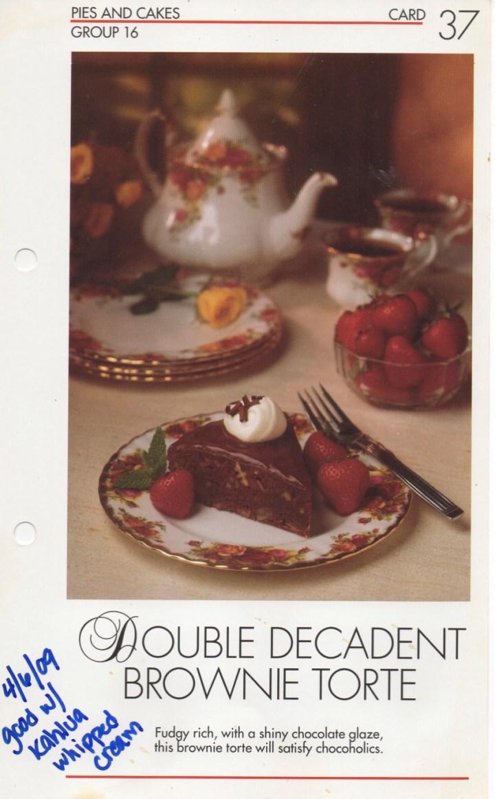 16-37 Double Decadent Brownie Torte