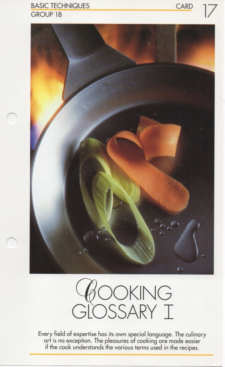 18-17 Cooking Glossary I