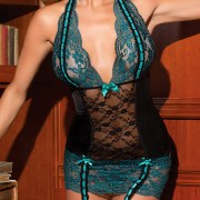 totally turquoise chemise womens sexy