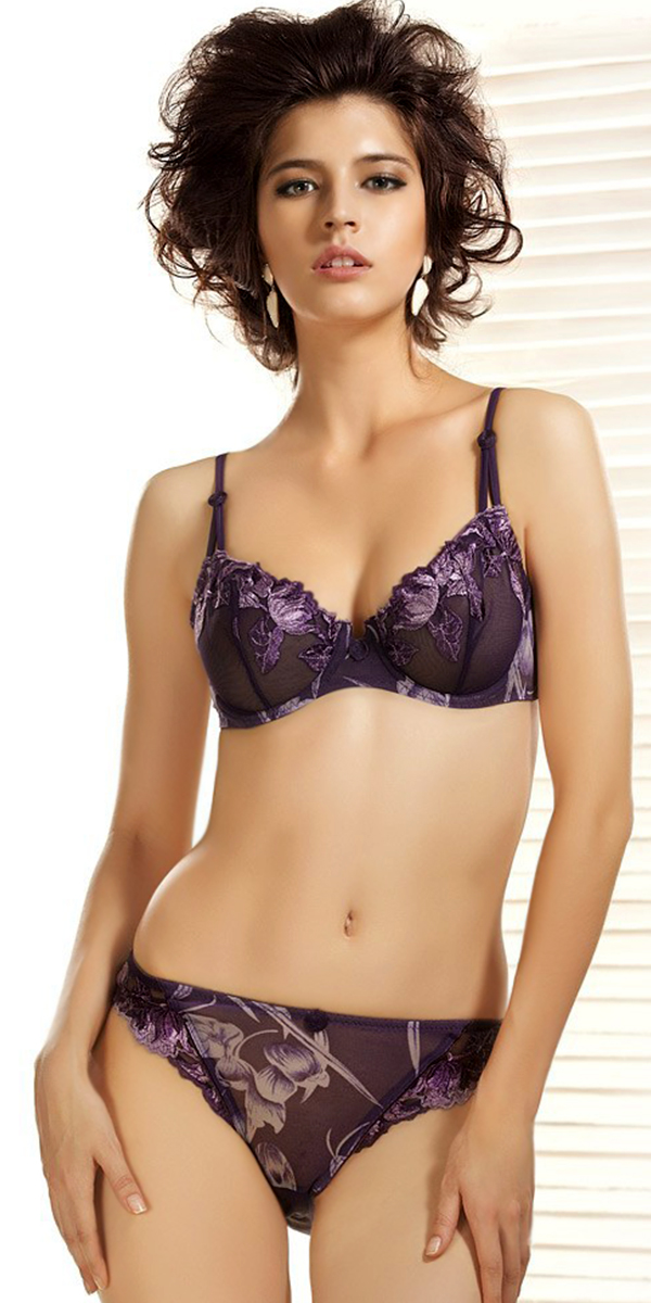 embroidery lace brazilian bra and brief set sexy womens