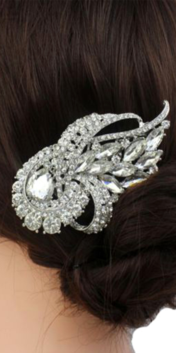 bridal hairpiece with rhinestone and crystals sexy womens accessories