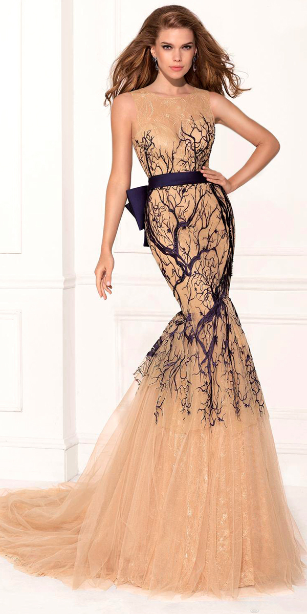 lace applique evening dress with bowknot sexy womens lingerie