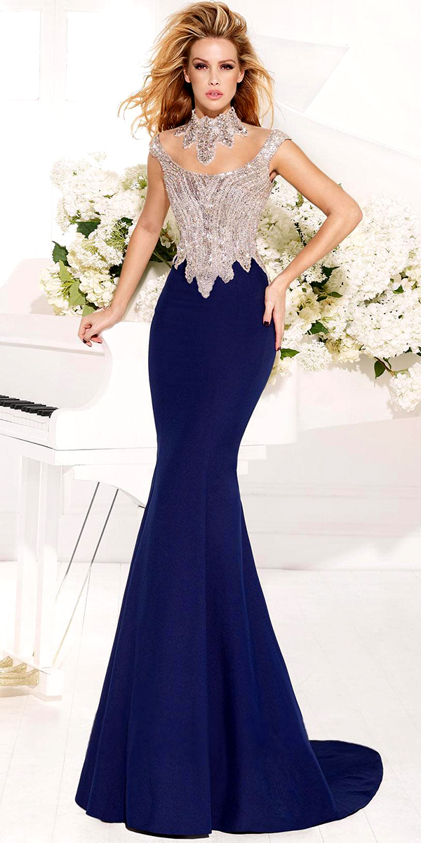 royal blue evening dress with crystal top sexy womens lingerie
