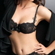 black floral embroidered lace bra and brief set sexy womens lingerie