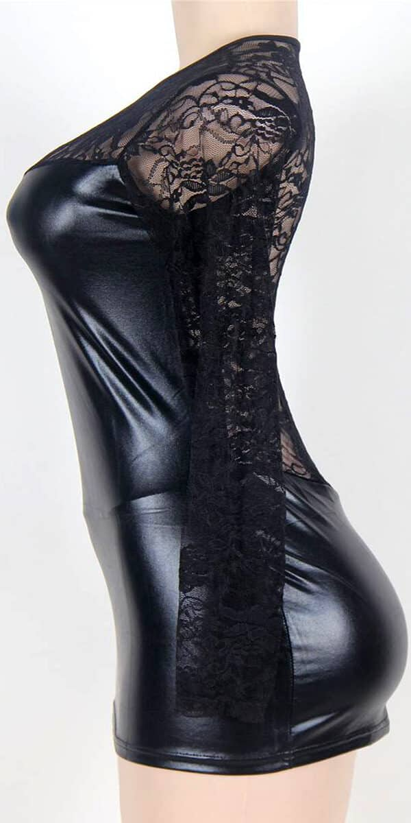 plus size black leather