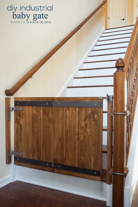 Baby Gate With Only One Wall : Custom, Industrial, Style