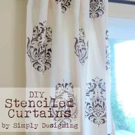 DIY Stenciled Curtains and a {GIVEAWAY} from Cutting Edge Stencils
