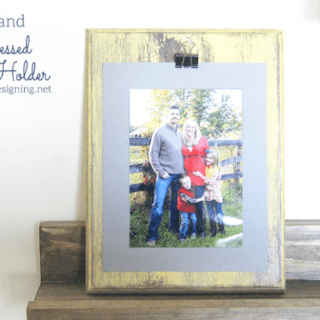No-Sand Distressed Photo Holder + Giveaway