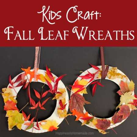 Kids Craft: Fall Leaf Wreath