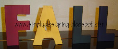 FALL Wooden Letters