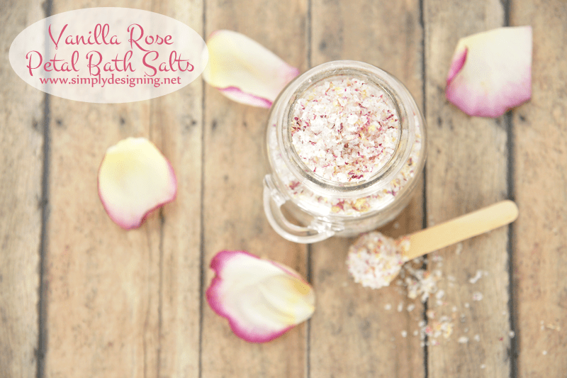 Vanilla Rose Petal Bath Salts