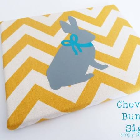 Chevron Bunny Sign
