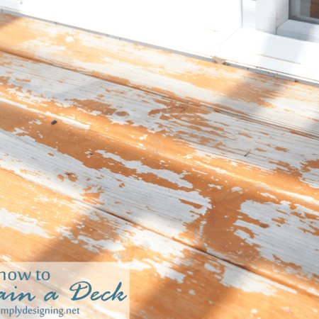 How to Re-Stain a Deck + HomeRight Giveaway