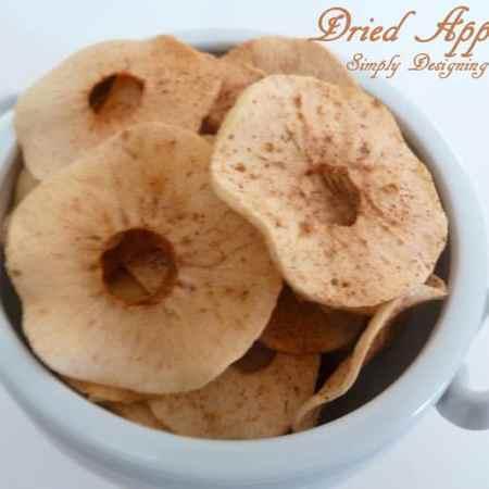 Cinnamon Sugar Dried Apples