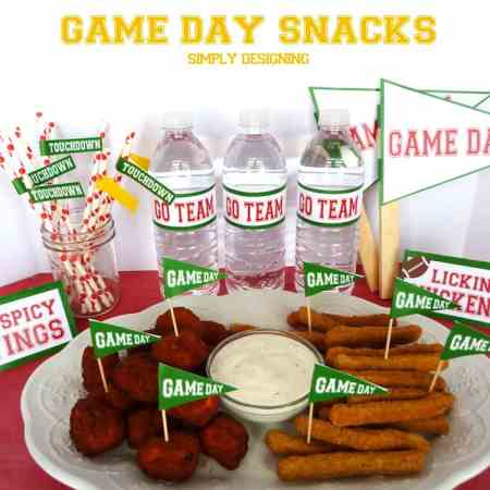 #ad Game Day Snacks and {FREE} Printables #cbias