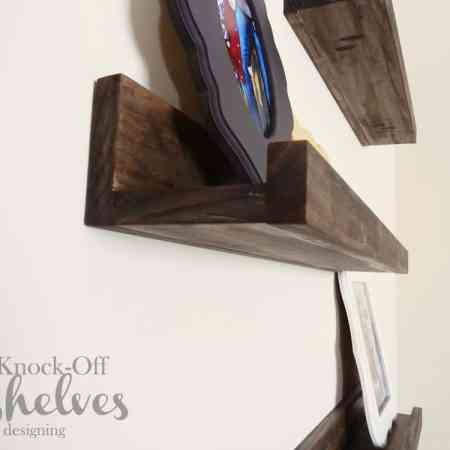 DIY Knock-Off Shelves