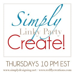 Simply Create Link Party {24}