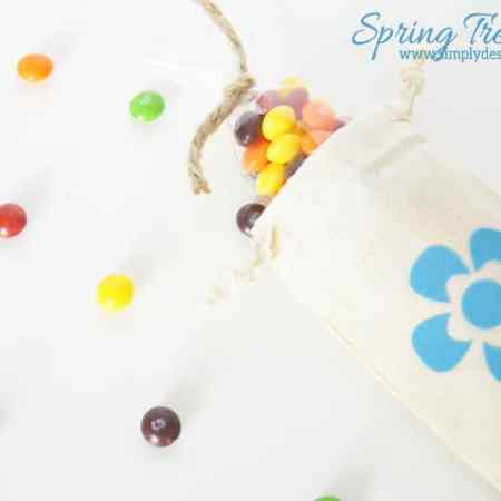 Spring Flower Treat Bag + Silhouette Sale