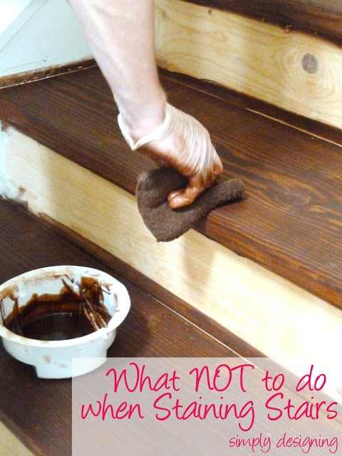 Diy Staining Kitchen Cabinets