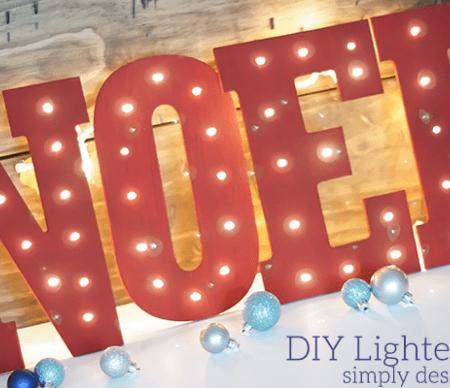 DIY Lighted NOEL