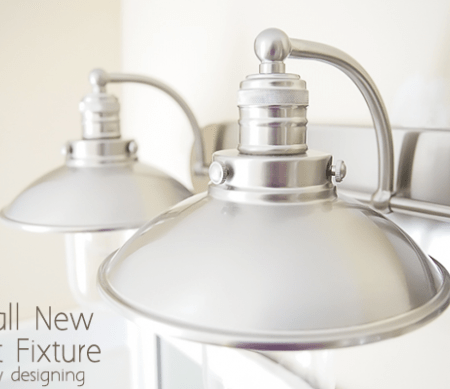 Install a New Bathroom Light Fixture