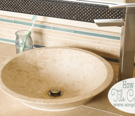 Master Bathroom Remodel: Part 8 { How to Install New Tile Counter Tops }