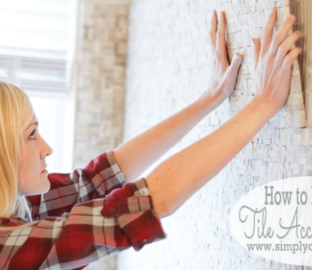 Master Bathroom Remodel: Part 9 { How to Install a Tile Accent Wall }