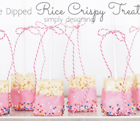 Chocolate Dipped Rice Crispy Treat Pops